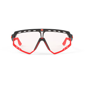 Rudy Project Defender Lunettes, black matte/red fluo - impactx photochromic 2 red